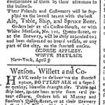 nydailyadv10march1790applebywatsonwillett