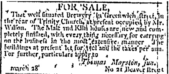 Nyc Big Beer Gossip And Newsy Notes 1790s To 1805 A Good Beer Blog